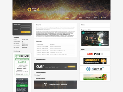 [PAYING] kvant4you.com - Min 10$ (0.60% Daily for 10 days) RCB 80% Thumbnail_34197